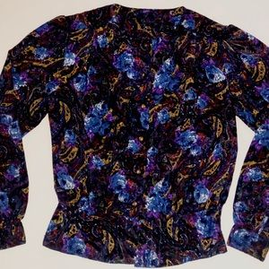 Vintage button up blouse shirt